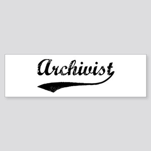 Archivist (vintage) Bumper Sticker