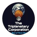 TPC Logo Round Car Magnet
