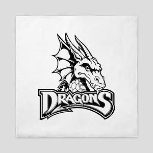 Dayton dragon head design Queen Duvet
