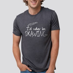 I'd Rather Be Drawing Women's Dark T-Shirt