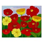 Poppies in Red & Yellow Graphic Art Poster