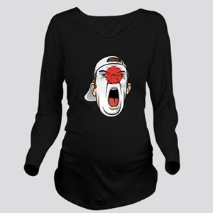 Football fan head Ja Long Sleeve Maternity T-Shirt