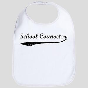 School Counselor (vintage) Bib