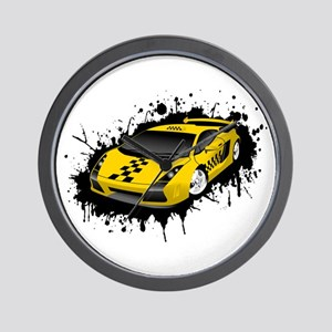Taxi design art Wall Clock