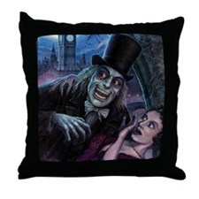 Vampire of London Throw Pillow