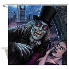 Vampire of London Shower Curtain