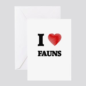 I love Fauns Greeting Cards