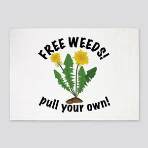 Free Weeds 5'x7'Area Rug