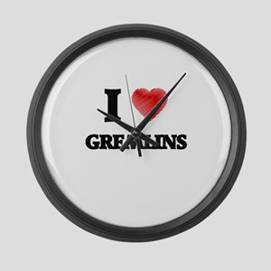 I love Gremlins Large Wall Clock