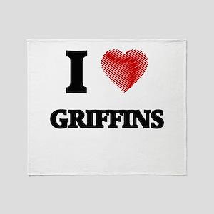 I love Griffins Throw Blanket