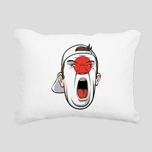 Football fan head Japan Rectangular Canvas Pillow