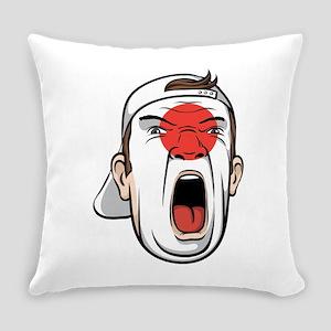 Football fan head Japan national f Everyday Pillow