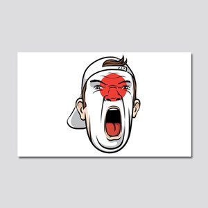 Football fan head Japan nationa Car Magnet 20 x 12