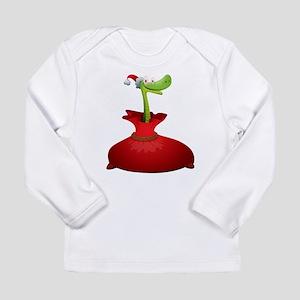 Christmas snake cartoon Long Sleeve T-Shirt