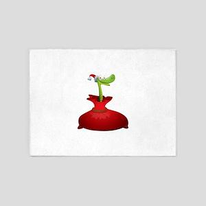 Christmas snake cartoon 5'x7'Area Rug