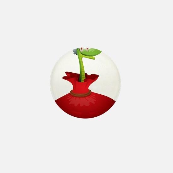 Christmas snake cartoon Mini Button