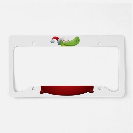 Christmas snake cartoon License Plate Holder