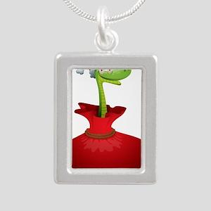 Christmas snake cartoon Necklaces