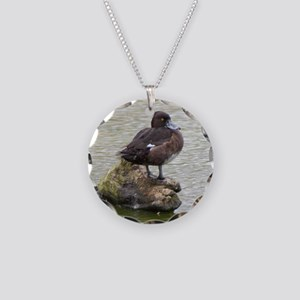 Ring Neck Duck Necklace Circle Charm