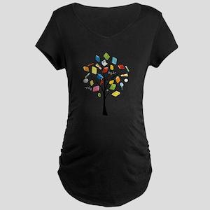 Book knowledge tree Maternity T-Shirt
