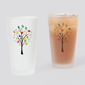 Book knowledge tree Drinking Glass
