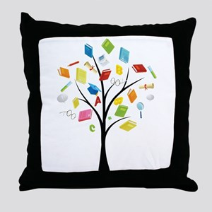 Book knowledge tree Throw Pillow