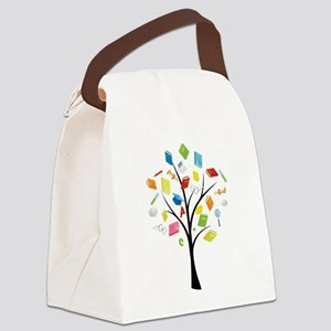 Book knowledge tree Canvas Lunch Bag