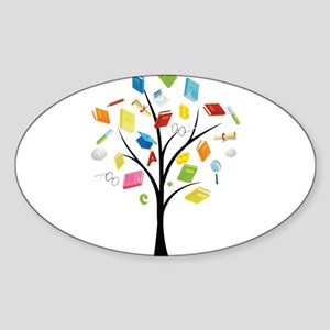 Book knowledge tree Sticker
