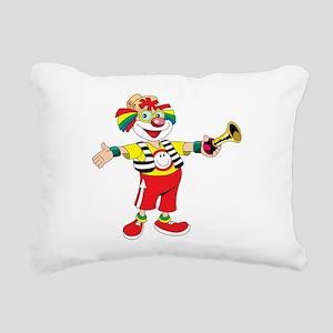 clown blowing a horn Rectangular Canvas Pillow