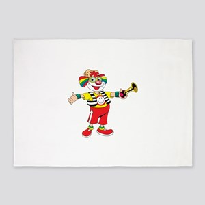 clown blowing a horn 5'x7'Area Rug