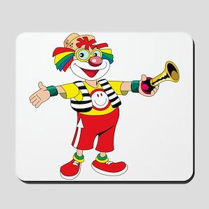 clown blowing a horn Mousepad