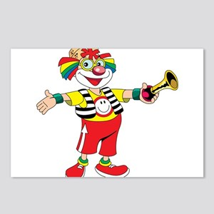 clown blowing a horn Postcards (Package of 8)