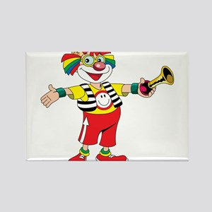 clown blowing a horn Magnets