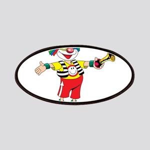 clown blowing a horn Patch