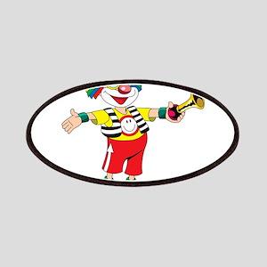 clown blowing a horn Patch