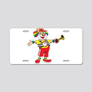 clown blowing a horn Aluminum License Plate