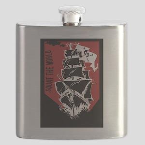 Squat the world pirate ship clip art Flask