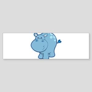 Cute cartoon animal hippo Bumper Sticker