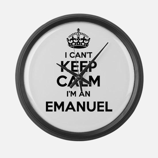 I can't keep calm Im EMANUEL Large Wall Clock