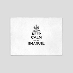 I can't keep calm Im EMANUEL 5'x7'Area Rug