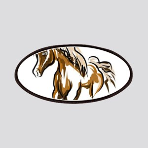 Brown Horse creative design art Patch