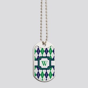 On the Green Argyle Dog Tags