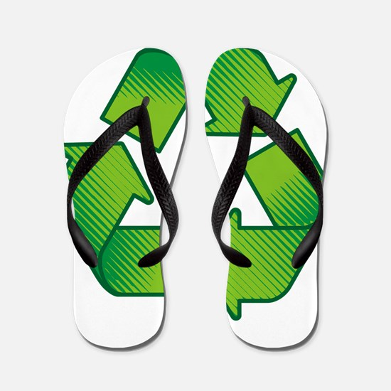 Recycling symbol Flip Flops