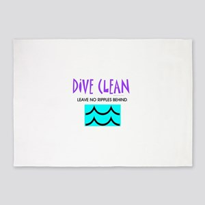 Dive Clean 5'x7'Area Rug