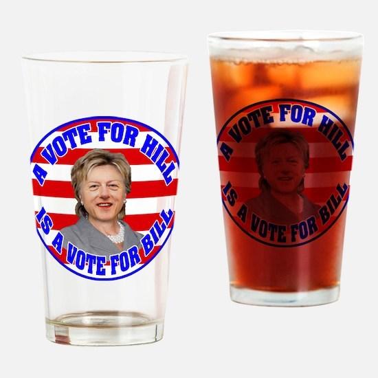 BILLARY.png Drinking Glass
