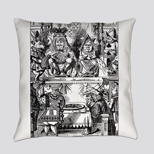 Vintage Alice in Wonderland Everyday Pillow