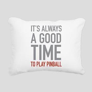 Play Pinball Rectangular Canvas Pillow