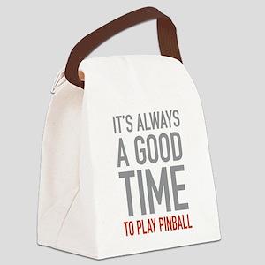 Play Pinball Canvas Lunch Bag
