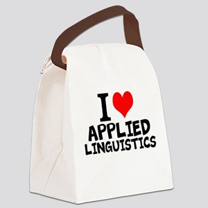 I Love Applied Linguistics Canvas Lunch Bag