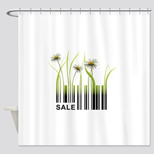 Barcode plant design Shower Curtain